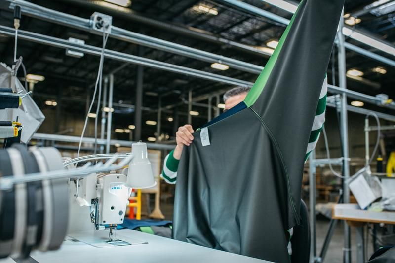 Arc'teryx Reusable Medical Gown Production Design Green Gray Pattern Arc'One Facility Vancouver British Columbia
