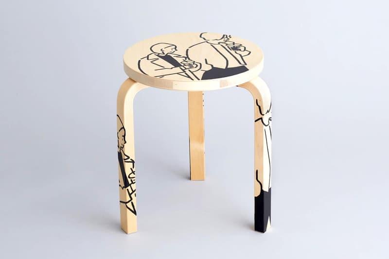 Artek Tokyo Store Yu Nagaba Stool 60 Info store anniversary furniture Alvar Aalto Helsinki Finland illustrations