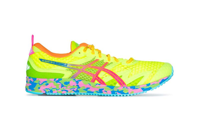 ASICS GEL Noosa Tri 12 Sneakers Yellow menswear streetwear shoes footwear trainers runners kicks spring summer 2020 collection japanese mesh technical japan marathon