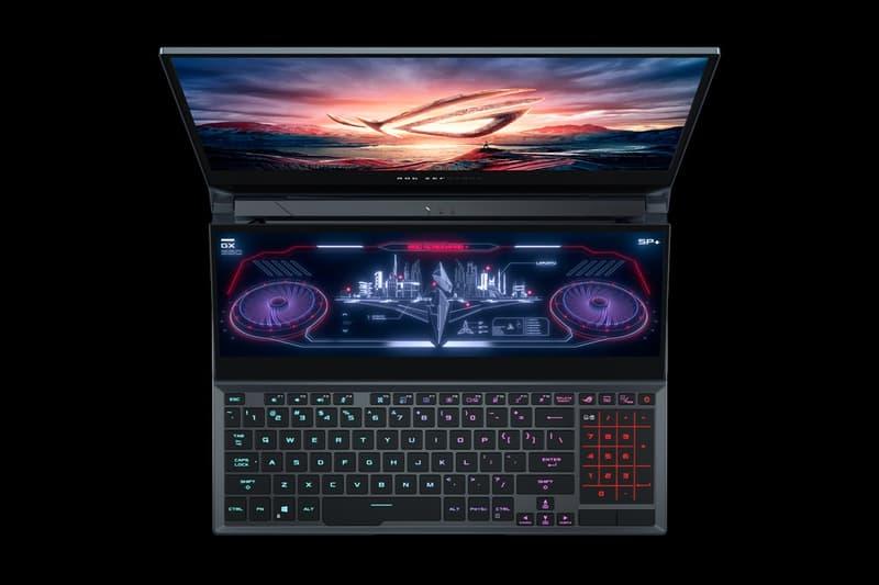 asus taiwan rog republic of gamers zephyrus duo 15 dual monitor screen touchscreen gaming laptop