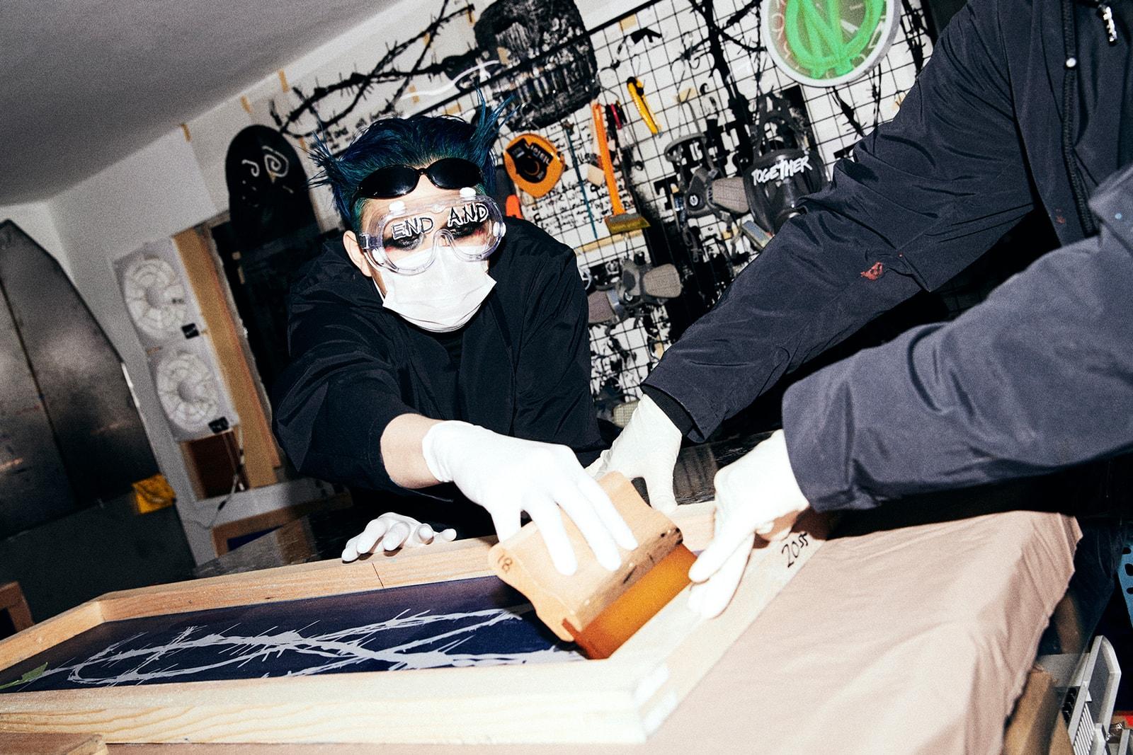 Bajowoo of 99%IS- Graces HYPEBEAST Korea's Digital Cover punk anti-fashion black eye shadow 99 percentis gopchang wrinkly pants