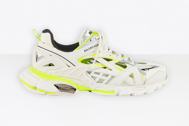 Balenciaga Track 2 White Fluo Yellow Pre Order sneakers neon green shoes