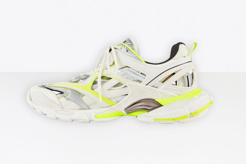 Balenciaga Track 2 In White And Fluo Yellow Hypebeast