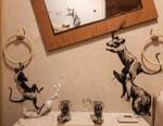 Banksy Reveals Bathroom Artworks Made During Coronavirus Lockdown