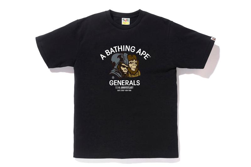 Bape NYC 15th ANNIVERSARY COLLECTION new york city flagship store shop fifteenth a bathing ape generals statue of liberty graphics artwork print logo april 18 2020