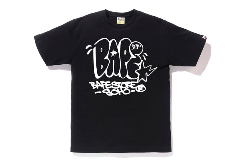 Shaun Crawford x BAPE NY 15th Anniversary T-Shirts Black White Graffiti Tag New York City
