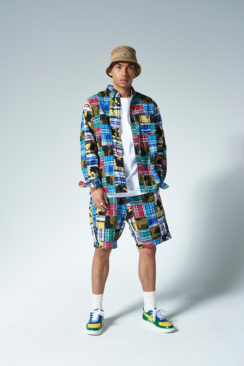 BAPE A Bathing Ape Summer 2020 Street Resort Lookbook Collection Release Information Camouflage Ape Shall Never Kill Ape Streetwear Basketball tiger tracksuit