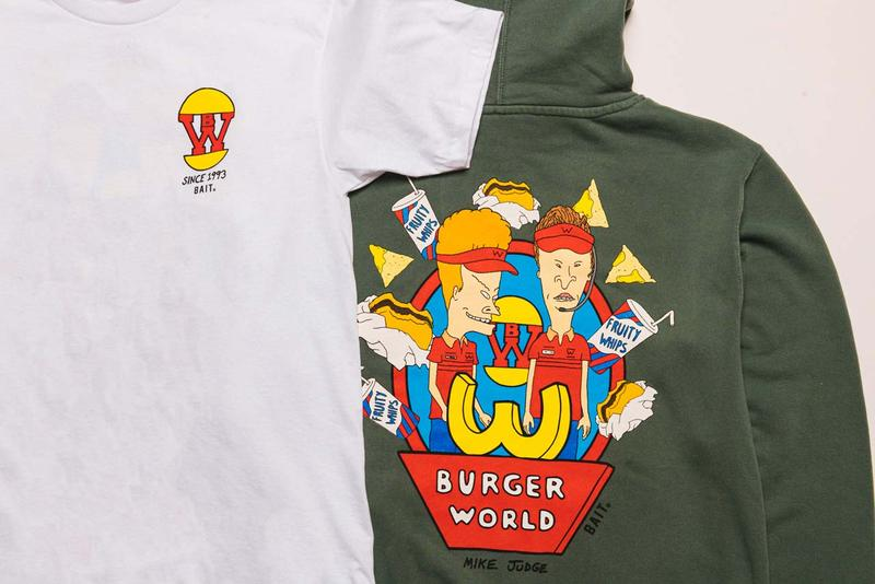 beavis and butthead butt head bait 420 capsule collection burger tee tshirt green hoodie hoody mike judge