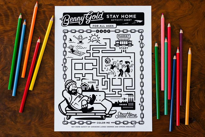 Benny Gold Activity Sheets Launch Online Self Isolation Quarantine Social Distancing Avoid People Coronavirus Crisis Pandemic COVID-19 Art at Home Drawing Maps Mazes Design Fun Download Kids What to Do