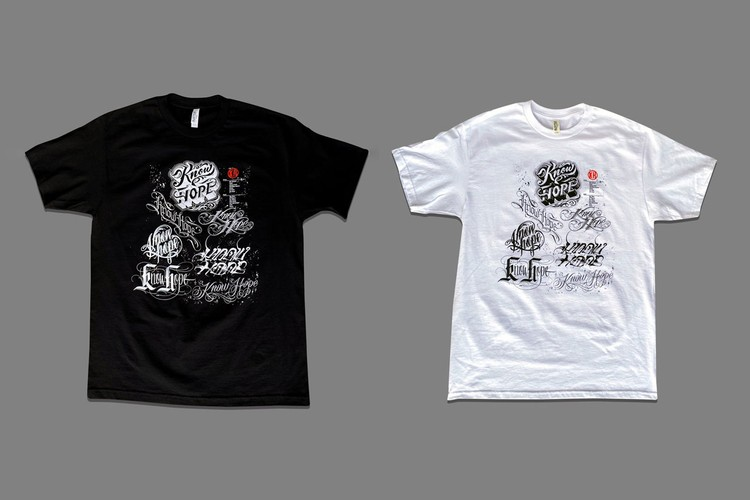 """BJ Betts Brings 14 Tattoo Artists Together for """"KNOW HOPE"""" Charity T-Shirt"""