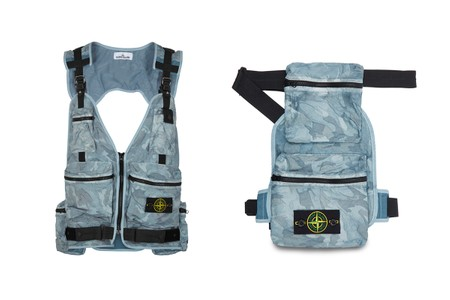 "Stone Island Embraces Rich ""Blue Camo"" Print Over Tactical Goods"