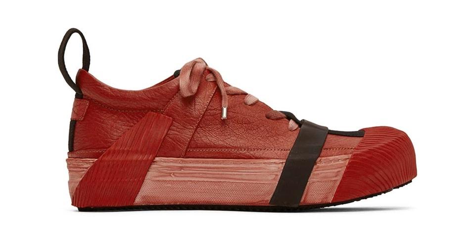 """Boris Bidjan Saberi's Bamba2 Sneakers Get Saturated """"Blood Red"""" Makeover"""