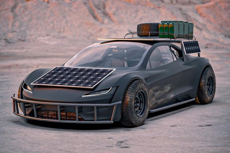 BradBuilds Imagines a Mad Max-Styled Off-Road Tesla
