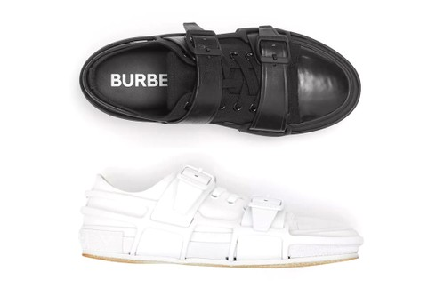 Burberry Crafts Monochromatic Leather Webb Sneakers