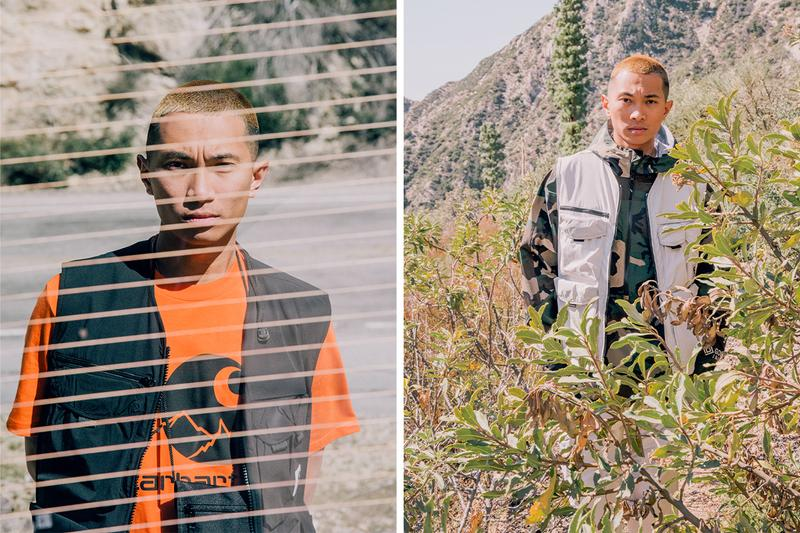Carhartt WIP Coley Brown Great Indoors technical outerwear jackets editorial first look spring summer 2020 outdoors