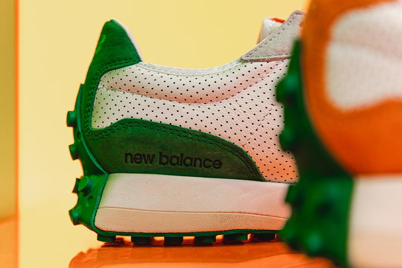 Closer Look: Casablanca x New Balance 327 Release Information Editorial HYPEBEAST Imagery Charaf Tajer Footwear Sneaker Drops Moroccan oranges tennis uniforms colorways