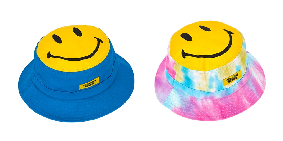 Chinatown Market Magnifies the Smiley Motif on Canvas Bucket Hats