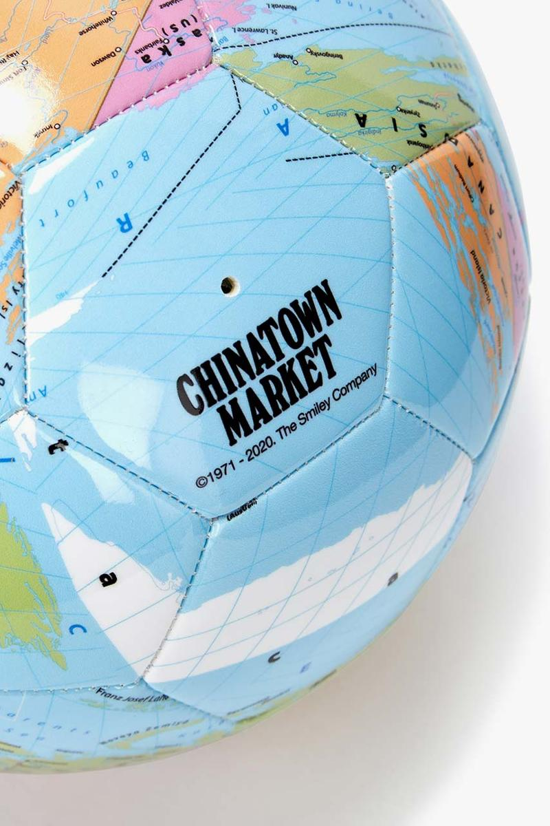chinatown market x smiley globe print football soccer ball map pattern harvey nichols exclusive