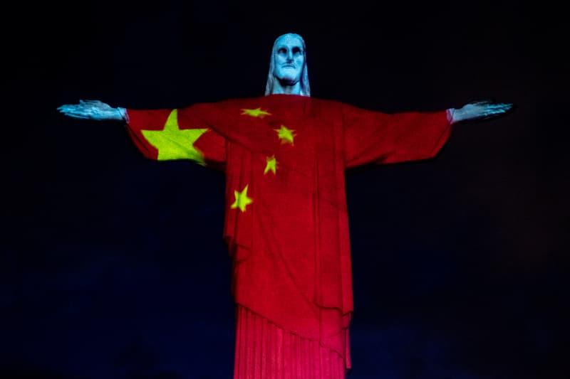 christ the redeemer easter projections rio de janiero brazil