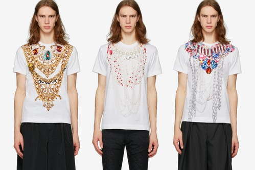 COMME des GARÇONS HOMME PLUS Puts Together a Series of Chain Print T-Shirts