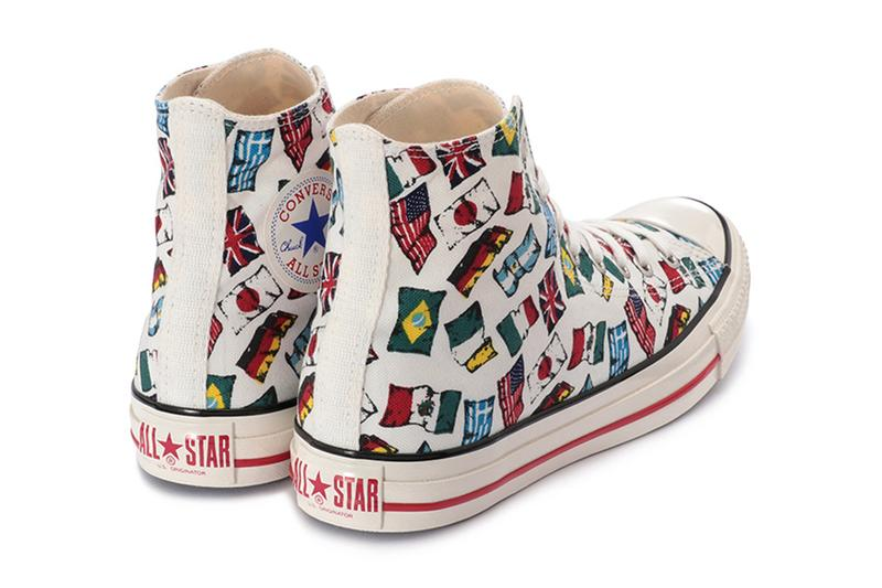 converse japan chuck taylor all nations flag print white red blue Japan Ireland America Argentina United Kingdom Italy Greece Germany Brazil Mexico release date info photos price