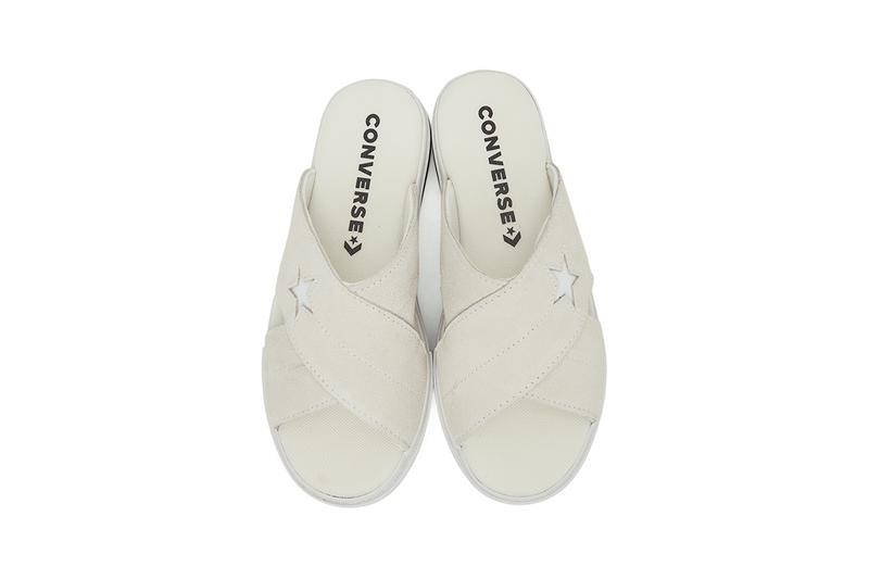 """Converse Black One Star Criss Cross Sandals """"Egret"""" """"Off-White"""" 201799M234144 201799M234145 Colorways Slides House Shoes Footwear Release Information Stay Indoors Home Shoes Slippers Sliders CONS"""