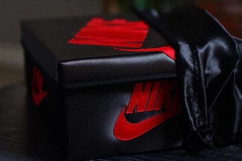 Sneaker Customizer Creates Satin-Covered Jordan 1 Sneaker Box