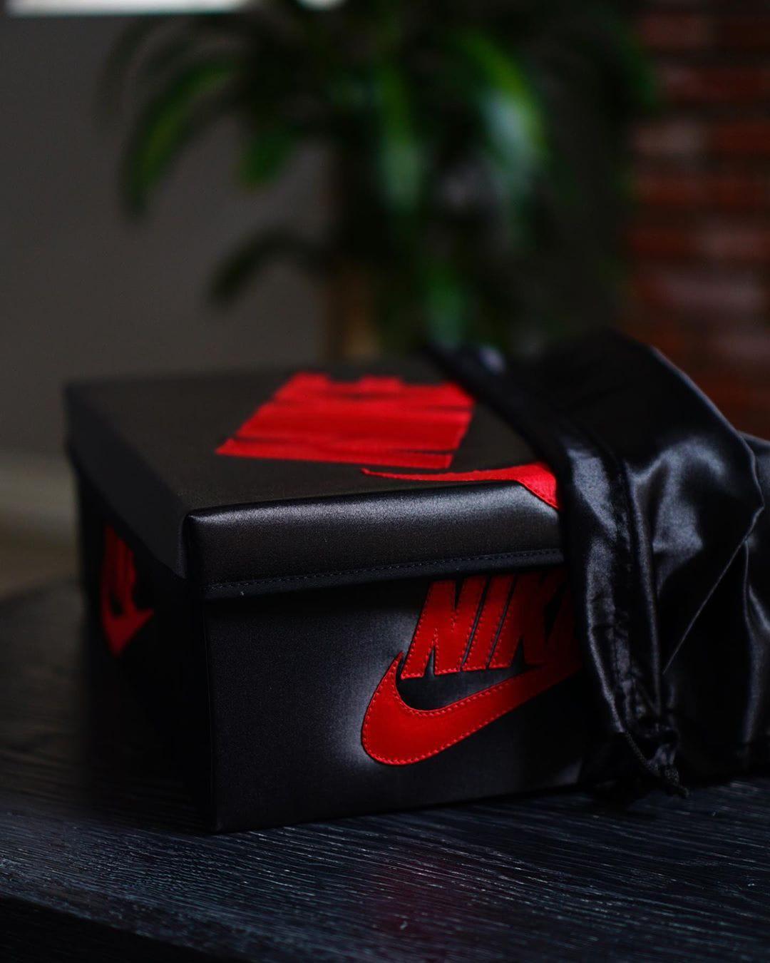 Custom Satin Air Jordan 1 Sneaker Box
