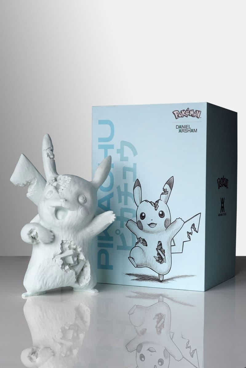 blue crystalized pikachu arsham studio release artworks sculptures