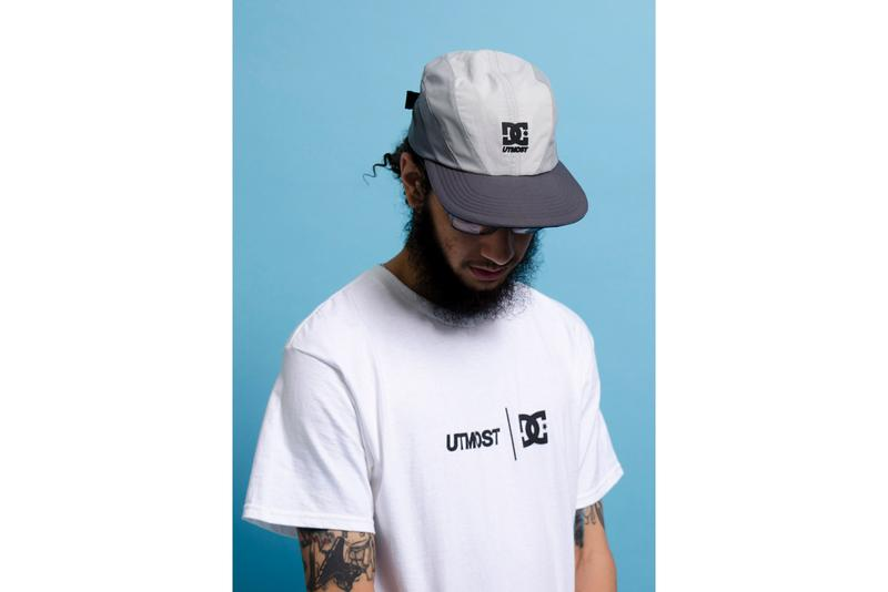 Utmost Co. x DC Shoes Lynx OG Capsule Collection Electric Blue Black White T-shirts Apple Core Skateboarding Caps Gray Branding
