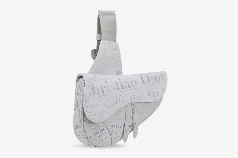 Daniel Arsham x Dior Newspaper Print Saddle Bag accessories bags high fashion french France Luxury leather goods side bag purse