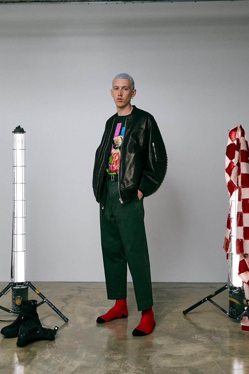 FLAGSTUFF Fall Winter 2020 Lookbook menswear streetwear collection visuals japanese designer coats jackets t shirts graphics pants trousers slacks