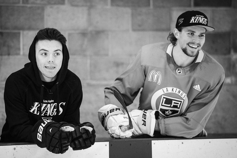 FaZe Clan x LA Kings Collaboration merch Apparel, Charity Event fight2fund tournament stream Adrian Kempe, Austin Wagner, Ben Hutton Blake Lizotte april 1 2020 los angeles