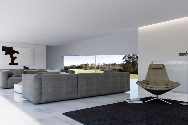 Fran Silvestre Arquitectos House Coimbra-Steinman House Lisbon Portugal Gold Course White Structure Home Two Volumes Pool Terrace