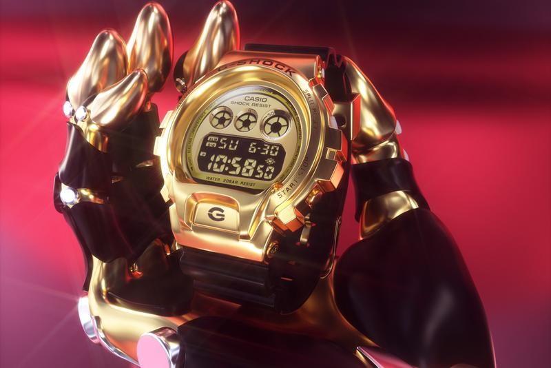 G-SHOCK DW6900 GM6900 series GOLD RED SILVER 1990 Eric Haze LRG Mister Cartoon and Krink UNDEFEATED MEDICOM TOY CLOT Third Eye new colors materials and a finish glass fiber reinforced resin case molded bezel pop culture fashion art music