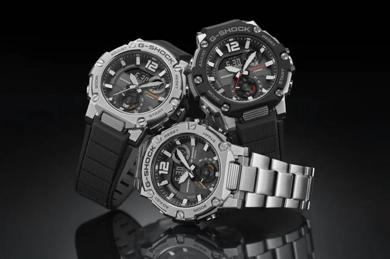 casio g shock steel gst b300 watches accessories digital analog carbon fiber core guard resin technology