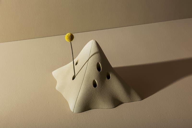 Greece is for Lovers & Sandhelden 'Heaps' Modular Flower Vase 3D Printed Quartz Sand Mediterranean Dune