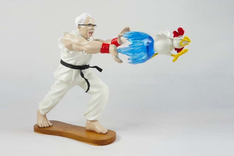 HEART LAB & HANH's 'EPIC HADOUKEN' Statue Sees the Colonel Get Violent