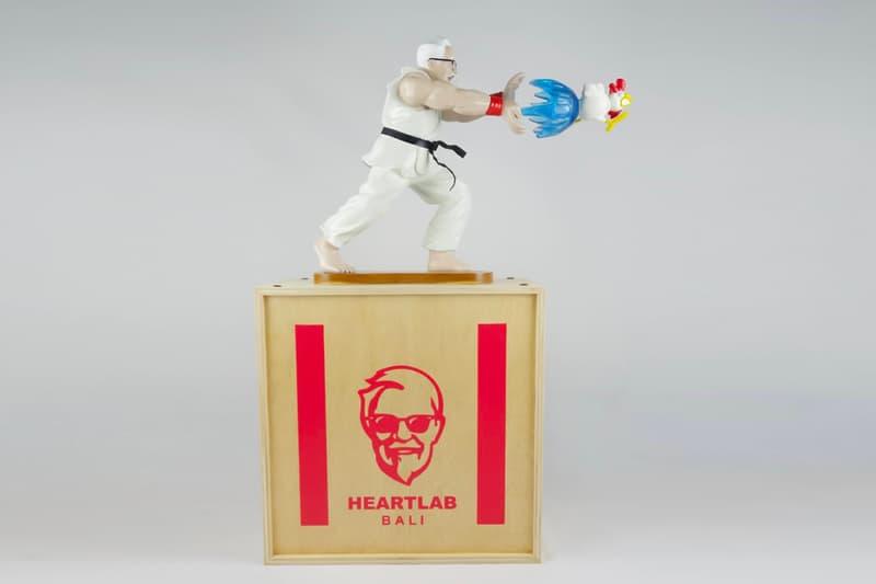 HEART LAB HANH EPIC HADOUKEN Statue Release KFC Colonel Sanders Ryu Street Fighter