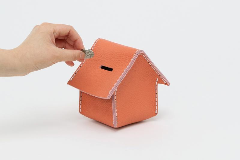 hender scheme diy craft yourself home piggy coin money bank cow leather release drop info natural white orange blue
