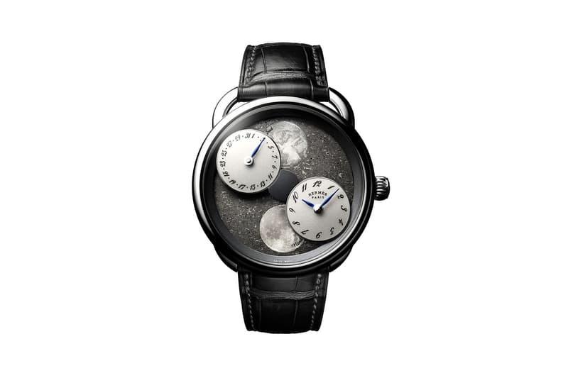 Hermès' Arceau L'Heure de la Lune Meteorite Dial Mars Sahara Desert space rare moonphase watches wristwatches moon