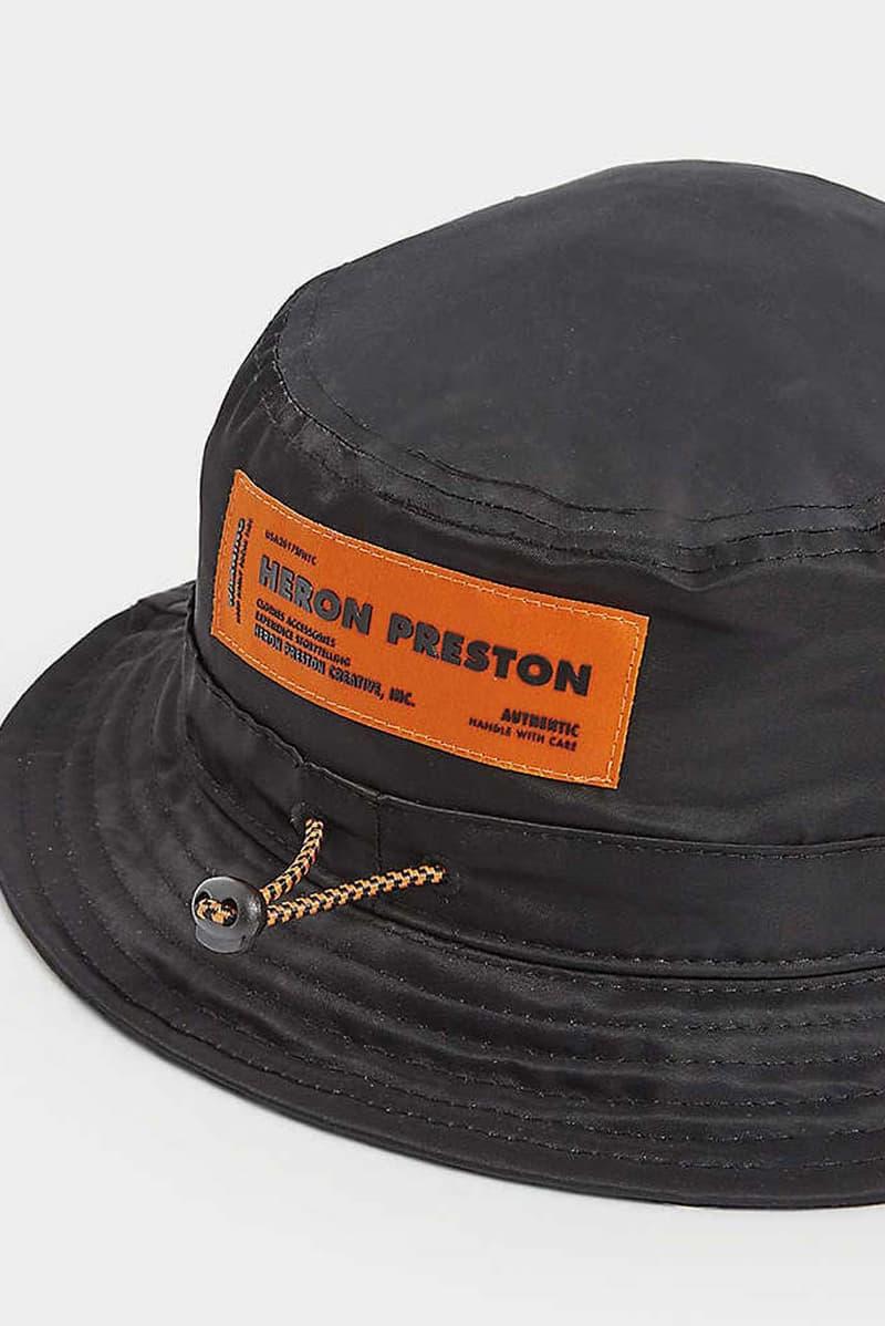 heron preston camouflage printed print nylon bucket hat ss20 spring summer 2020 concrete jungle collection