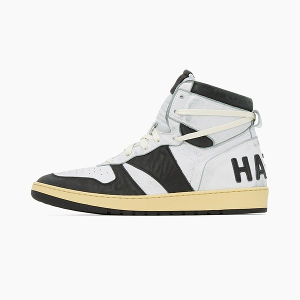 "RHUDE Hell Yeah Rhecess-Hi Sneakers ""Black/White"""