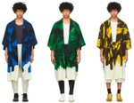 HOMME PLISSÉ Issey Miyake Drops Artful Action Painting Coats