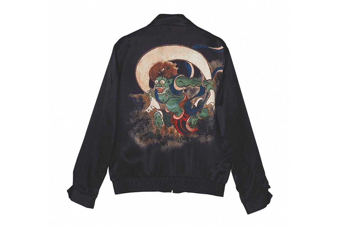Hysteric Glamor Ogata Korin Souvenir Jacket Hawaiian Shirt Release Wing God Fujin Raijin Zu Raijin Painting Artwork Japan Japanese Fashion Streetwear Nobuhiko Kitamura Nobu