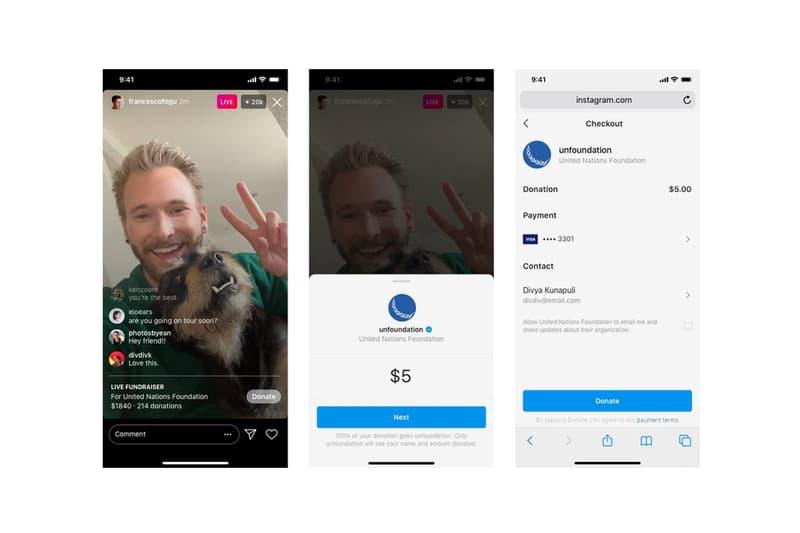 Instagram Live Donation Feature Announcement Info coronavirus covid-19 stories facebook