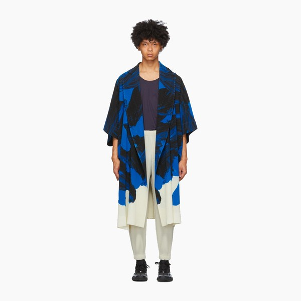 Homme Plissé Issey Miyake Action Painting Coat