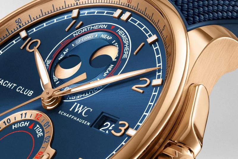 IWC 2020 Portugieser Yacht Club Moon & Tide Watch timepiece release date info price gold