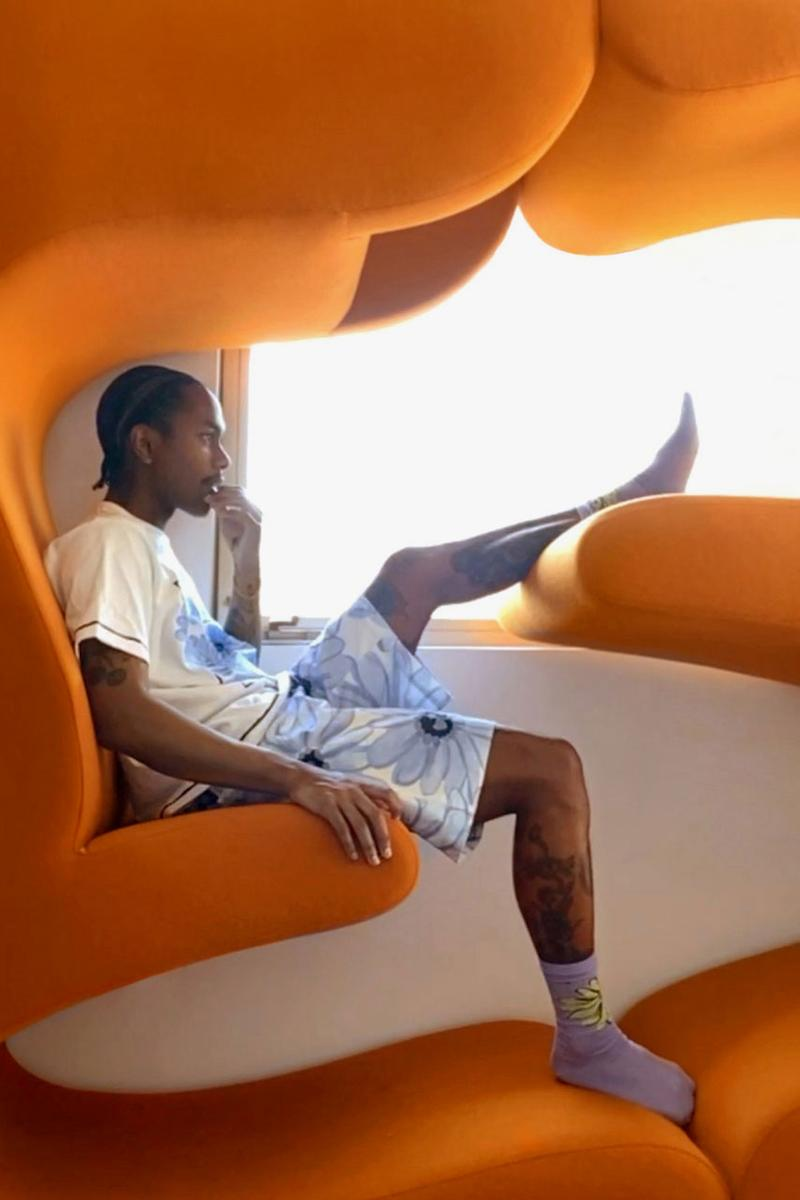 "Jacquemus Spring/Summer 2020 Campaign Steve Lacy Pierre-Ange Carlotti Facetime Photographs ""Jacquemus at Home"" Series Sunglasses T-shirts Flowers Shorts"
