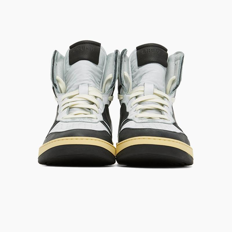 "RHUDE Hell Yeah Rhecess-Hi Sneakers ""Black/White"" Release Where to buy Price 2020"